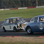 Shaun gets past a Jaguar MkII