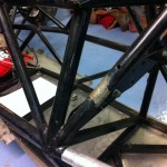 Formula Ford single seater tubular chassis repair