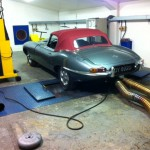 Jaguar E-type rolling road