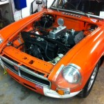 Linfield MGB rolling road tune