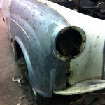 Austin A35 wing restoration