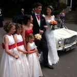 Classic mini limousine hired for Claire's wedding 3