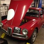 Alfa Romeo Giulietta Sprint rolling road