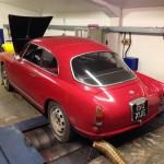 Alfa Romeo Giulietta Sprint rolling road 2