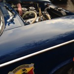 Abarth Fiat 1500 engine install. CCK Historic Guy Harman Rupert Keegan