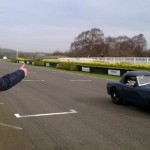 Darren Turner testing for Goodwood 72nd Members Meeting 3