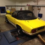 Lotus Elan Sprint rolling road