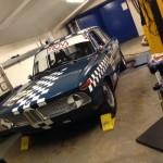 Tim Abbott BMW 1800ti rolling road