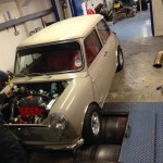 Mk2 Mini 1275 rolling road 4