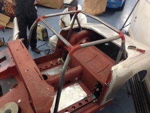 Paul Tarry Sebring Sprite custom roll cage
