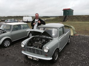 Cup and car Mk1 Mini Action Day Blyton