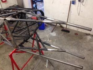 Jim Lee Racing Mantis FF1600 tubular chassis repair 2