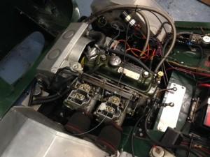 Lumbertubs Austin-Healey Sprite race car