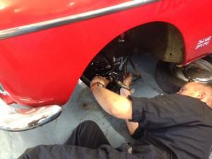 Austin A40 fast road Midget disc brake conversion 2
