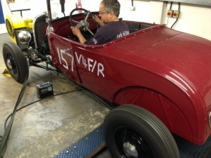 Model A Ford traditional hot rod VHRA rolling road tuning