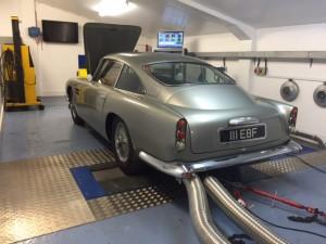 Aston Martin DB4 GT rolling road tune