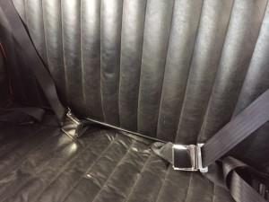 Austin A40 classic chrome buckle seat belts