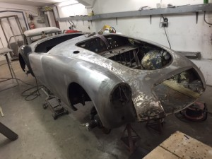 MGA restoration front wing rear wing door sills f sections