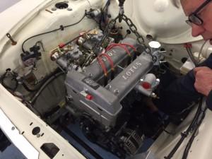 Neil Brown Lotus twin cam race engine FIA Cortina 2
