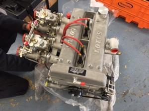 Neil Brown Lotus twin cam race engine FIA Cortina