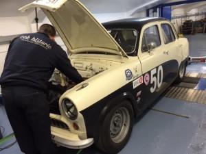 Peter Blanchett Austin A50 race car rolling road tuning