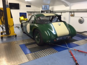 TVR Grantura Coventry Climax rolling road tuning