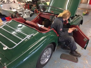 Triumph TR3A repair and repaint 2