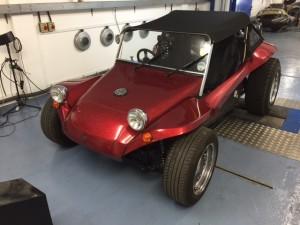 VW Beach Buggy rolling road