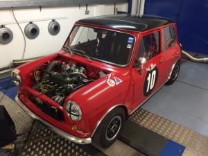 minisport cck historic fia mini cooper s rolling road tune