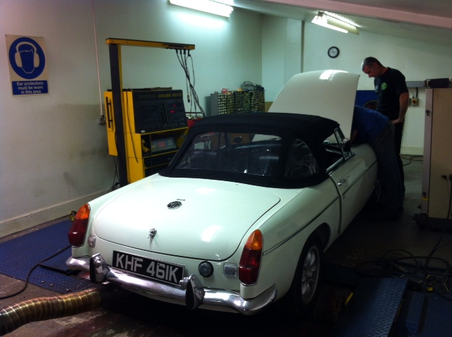 Cck Historic Supercharged Mgb Rolling Road Tuned