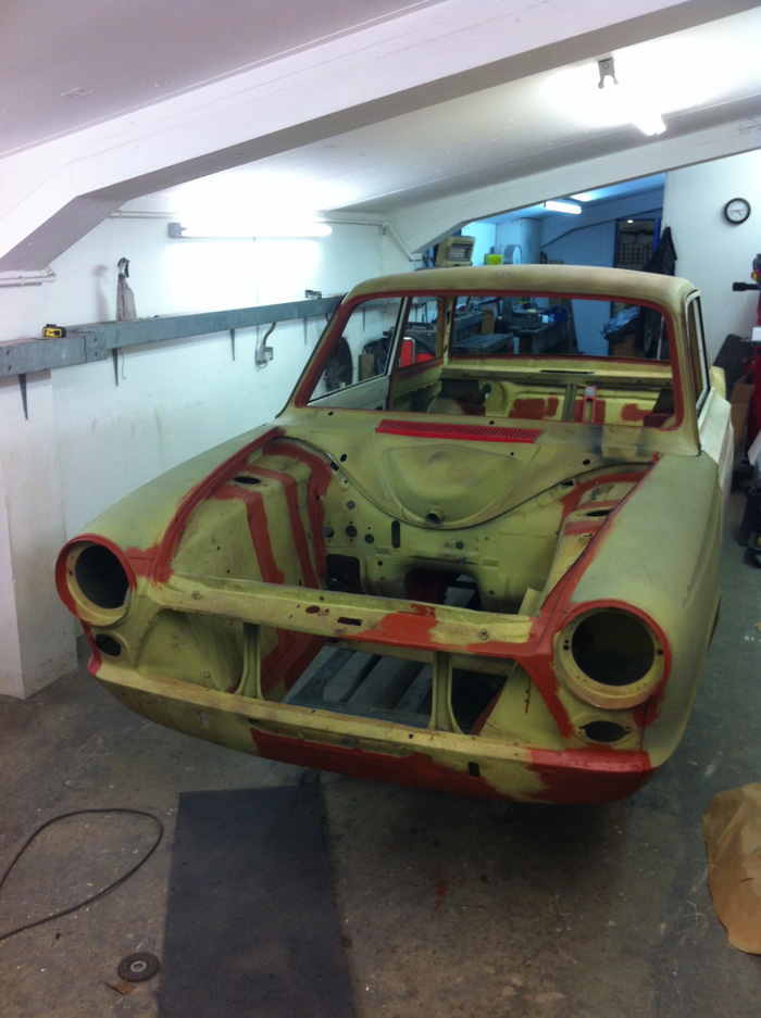 Mk1 Cortina Body Shell Restoration Completed Cck Historic
