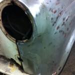 Austin A35 wing restoration 3