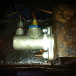 AP Racing brake master cylinder in the Rover P4