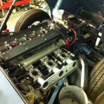 Jaguar e type engine bay
