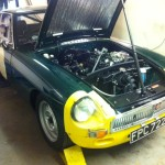 MGB Sebring on the rolling road
