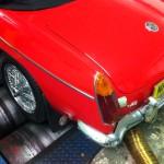 MGB V8 rolling road