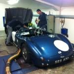 Jaguar c-type rolling road