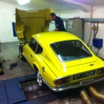 Triumph GT6 roling road tuning