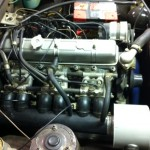 Triumph 2500 PI fuel injection setup