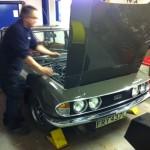 Triumph 2500 PI fuel injection setup 2