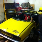 Triumph Spitfire 2500 rolling road 2