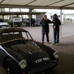 Darren Turner and Shaun Rainford in the Goodwood paddock