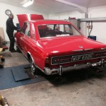 Ford Taunus rolling road