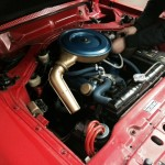 Ford Taunus rolling road engine bay