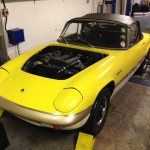 Lotus Elan Sprint rolling road 2