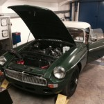 MGB roadster rolling road 4