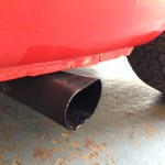 Sunbeam Harrington side exit exhaust