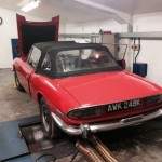 Triumph Stag rolling road