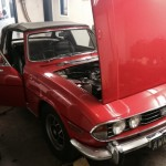 Triumph Stag rolling road 2
