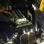 jaguar mkII rolling road engine bay